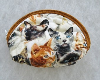 Small Quilted Purse - Realistic Cats