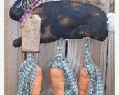 Welcome Spring Sale Primitive Folk Rabbit Door Hanger