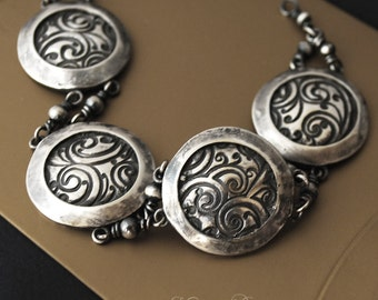 Massive Fine silver bracelet