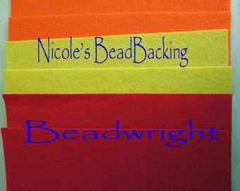 Nicole's BeadBacking 12x9 NBB 3 colors 6 pack  Bead Embroidery Soutache Beading