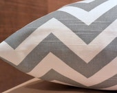 Add Personalization - DESIGNER Pet Bed Duvet Cover - Stuff with Pillows - YOU Choose Fabric - Zig Zag Chevron Ash Grey/White shown