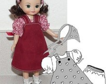 "8"" doll clothes sewing - Tiny Betsy McCall pattern - Doll Clothes Pattern - Jumper Blouse PDF - Tiny Doll Clothes epattern"