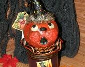 Vintage look pumpkin gourd
