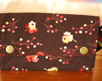 Double Snap Wallet - Spring Flowers - ON SALE