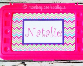 Personalized Pencil, Marker, Crayon, Notion and Embellishment Organizer Box