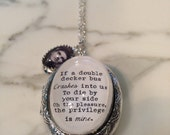 Morrissey Quote Necklace. If a double decker bus Locket