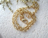 Premium Quality Gold Plated  4.5MM  Rollo Necklace Adjustable 18 Inches - Gold Plated Necklace