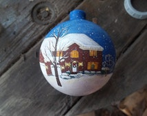 Custom hand painted shatter proof house ornament painted with your own home personalized for free
