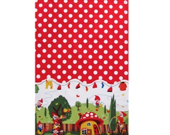 Michael Miller Gnomeville Red Fabric - 1 Yard