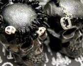Black Jasper Skull Or Fangs Gemstone Bracelet