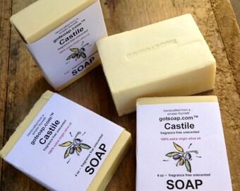 Castile Soap - 100% olive oil cold processed soap