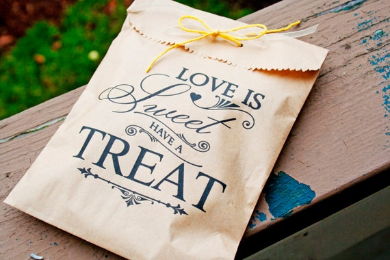 Items similar to Brown Paper Favor Bags - Candy Buffet ...