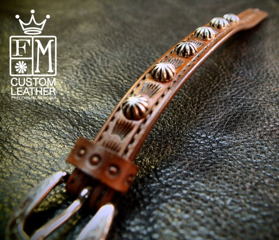 Leather bracelet cuff Lean and Sexy Cowboy western style made in Brooklyn NYC