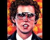 "Print 8x10"" - Napoleon and Tots - Dynamite Nerd Geek Pedro Glasses Teenage Jon Heder Glasses Affro Dork Tator Tots Pop Hipster Food Potato"