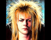"Print 8x10"" - Jareth - Labyrinth Movie David Bowie Fantasy British Jim Henson Fantasy Goblin King Dark Art Surreal Magic Ziggy New Wave"