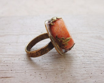 Statement Coral Ring - Sea Treasure Collection