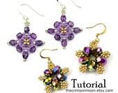 Beaded Earring Tutorials, Flower Pattern, Star Design, Beadweaving Instructions: Starlet & Moonflowers