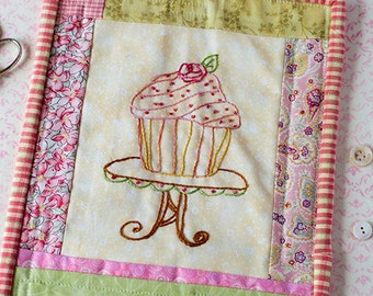 Rose Cupcake Hand Embroidery Pattern PDF Instant Digital Download