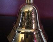 Pentagram Engraved Brass Altar Bell Wiccan Pagan Altar