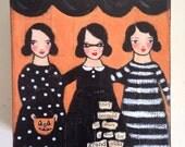 grand TRICKS halloween original painting