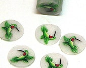 Hummingbird, fimo nail art cane, 2-inch (5cm) long polymer clay cane, DIY, Miniatures, Scrapbooking, Made in USA