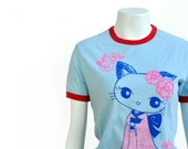 SALE Kawaii geisya kitty tee