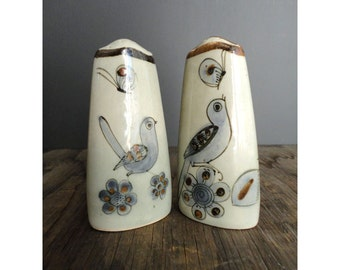 Made in Mexico Tonala by Ken Edwards - Blue Bird Salt and Pepper Shakers