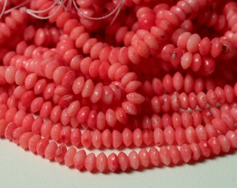 Coral pink rondelle 4mm, 15-inch strand (item ID CPRN4)