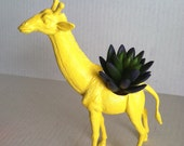 Yellow Giraffe Planter Great Dorm, Nursery, Decor or Baby Shower Gift Ready to Plant
