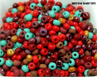 Sedona Dreams mix Czech Glass seed bead mix size 6