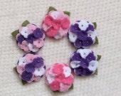 Spring Felt Mini Hydrangeas
