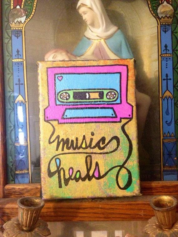 Music Heals Mixtape Painting