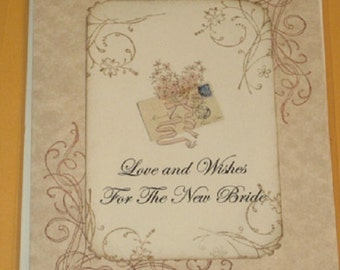 Love and Wishes For The New Bride  Wedding Day Card
