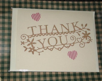 Thanks You Greeting Card  Embossed card