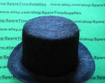 """Darice - 12761 Black Felt Top Hat - 3"""" - 1 pc"""