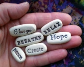 Any 6 Pocket Charms from list, Mother's Day Gift, Care Package Gift, Affirmation Stones, Party Favors