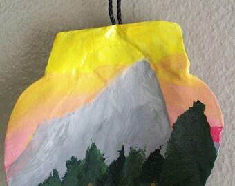 Hallett Peak Sea Shell Ornament