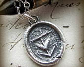 Anchor, Heart and Cross Wax Seal Necklace ~  Faith, Hope & Love ~  found along the banks of Thames River, London Mudlarking Wax Seal- E2205