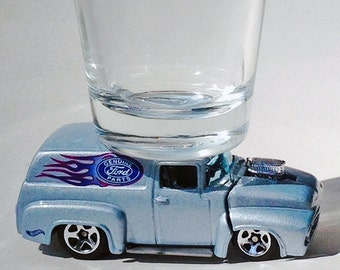 The ORIGINAL Hot Shot, Classic Hot Rods, Shot Glass, '56 Ford Panel Truck,Genuine Ford Parts, Hot Wheels