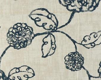 magnolia adele valance navy adele valance navy flowered valance