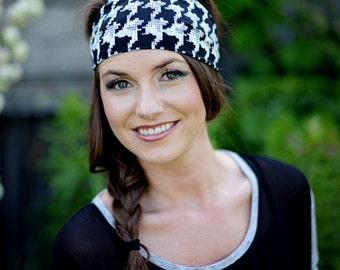 Cute Headbands, Cute Head Bands, Cute Hairbands, Cute Hair Bands, Funky Headbands, Funky Head Bands, Houndstooth Headband, Hounds Tooth