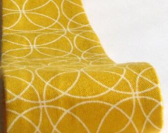 Fabric Headband, Womens, Mustard Yellow Geometric Print
