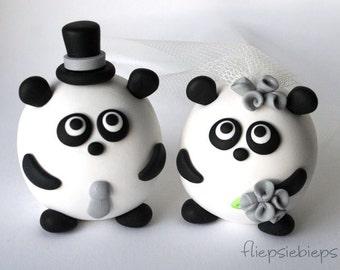 Custom Panda Cake Topper Wedding