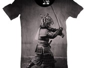 Samurai Tiger Men's Tee, T-Shirt, Graphic Tee, Cool T, Awesome Animal Shirt, Japan Anime Gift for him boyfriend brother husband funny shirts