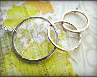 Three Eternity Ring Necklace - a Mother and Children Necklace, a Family Necklace