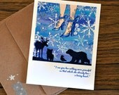 """SNOW QUEEN blank greeting card with """"let it snow queen"""" image on the front from the faerie tale feet series by halthegal"""