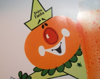 Vintage Fanta Orange Advertising Poster - Mint Condition Coca Cola Company