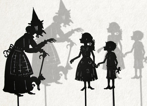 Hansel and Gretel and Witch /  Laser cut Shadow Puppets