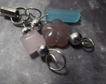 Purple Pixie Garden Keychain/Zipperpull