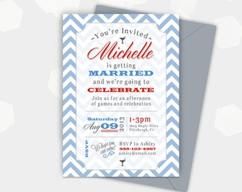 Bridal Shower Invite Party Invitation - Birthday Shower Cocktail Invite - Customized - DIY Printable